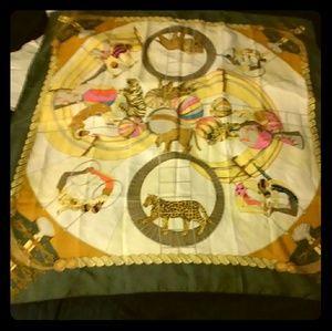 Hermes circus silk scarf